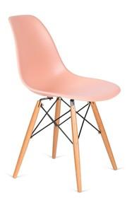 Krzesło DSW WOOD - łososiowy