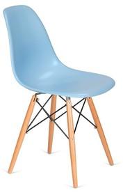 Krzesło DSW WOOD - błękitny