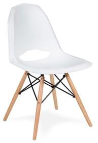 Krzesło z tworzywa sztucznego.<br />Nogi drewno bukowe + stal.<br />Waga netto 1 szt.: 6 kg<br />Waga opakowania: 7 kg<br />Maksymalna...