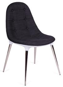 Krzesło tapicerowane tkaniną.<br />Korpus z włókna szklanego.<br />Nogi stal polerowana na wysoki połysk.<br />Waga netto 1 szt.:...