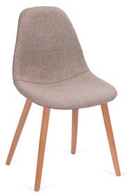 Krzesło tapicerowane tkaniną.<br />Korpus tworzywo sztuczne.<br />Nogi z drewna bukowego.<br />Waga netto 1 szt.: 5 kg<br />Waga...
