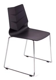 Krzesło z tworzywa sztucznego.<br />Stelaż stal nierdzewna w kolorze chrom.<br />Waga netto 1 szt.: 4 kg<br />Waga opakowania: 5 kg<br...