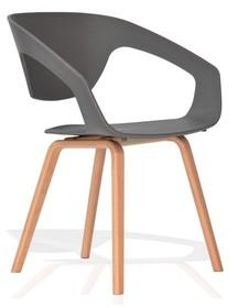 Siedzisko i oparcie tworzywo sztuczne<br />Nogi drewno bukowe<br />Waga netto 1 szt.: 4 kg<br />Waga opakowania: 5 kg<br />Maksymalna...