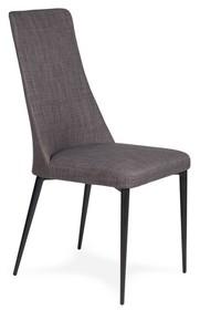 Krzesło tapicerowane tkaniną.<br />Nogi stal lakierowana na czarno.<br />Waga netto 1 szt.: 6 kg<br />Waga opakowania: 7 kg<br...