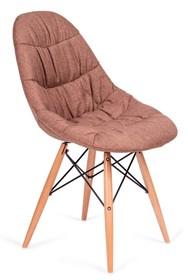 Krzesło tapicerowane tkaniną.<br />Korpus z tworzywa sztucznego.<br />Nogi drewno bukowe, łączenia stal w kolorze czarnym.<br />Waga...