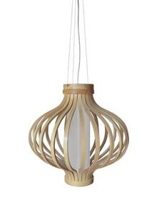 Drewniana lampa o ciekawej konstrukcji.  Rozświetli niejedno nowoczesne oraz klasyczne wnętrze.  Dzięki wykorzystaniu drewna do wykonania lampy BAREL...