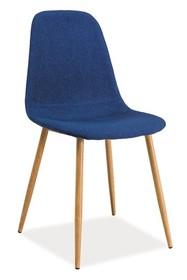 Krzesło FOX - dąb/granatowy