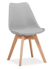 Krzesło KRIS dąb - jasny szary