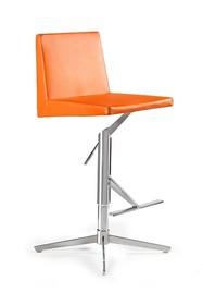 Cechy:  - obrotowe siedzisko wypełnione pianką tapicerowane skórą ekologiczną - podstawa z chromowanego metalu - regulacja wysokości - maksymalne...