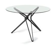Cechy:  - blat stołu wykonany z hartowanego szkła o grubości 10 mm - konstrukcja w kolorze czarnym wykonana z metalu polakierowanego lakierem proszkowym...