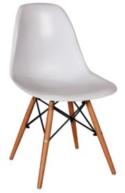 Białe krzesło Enzo w stylu skandynawskim. Dzięki pięknej nowoczesnej formie siedziska i nietuzinkowym nóżkom są lekkimi i bardzo designerskimi meblami,...
