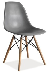 Szare krzesło Enzo w stylu skandynawskim. Dzięki pięknej nowoczesnej formie siedziska i nietuzinkowym nóżkom są lekkimi i bardzo designerskimi meblami,...