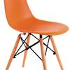 Krzesło Enzo pomarańczowe skandynawskie