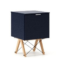 KONTENER ONE kolor NAVY stelaż BUK (standard)  Praktyczny i pojemny kontener z półkami, idealny jako uzupełnienie biurka BASIC lub samodzielna szafka....