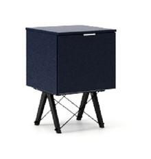KONTENER ONE kolor NAVY stelaż BUK BLACK  Praktyczny i pojemny kontener z półkami, idealny jako uzupełnienie biurka BASIC lub samodzielna szafka....
