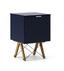 KONTENER ONE kolor NAVY stelaż DĄB  Praktyczny i pojemny kontener z półkami, idealny jako uzupełnienie biurka BASIC lub samodzielna szafka. Wykonany...