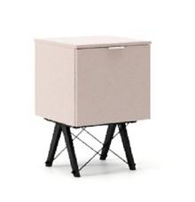 KONTENER ONE kolor DUSTY PINK stelaż BUK BLACK  Praktyczny i pojemny kontener z półkami, idealny jako uzupełnienie biurka BASIC lub samodzielna szafka....