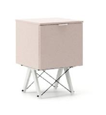 KONTENER ONE kolor DUSTY PINK stelaż BUK WHITE  Praktyczny i pojemny kontener z półkami, idealny jako uzupełnienie biurka BASIC lub samodzielna szafka....