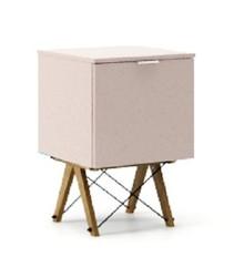 KONTENER ONE kolor DUSTY PINK stelaż DĄB  Praktyczny i pojemny kontener z półkami, idealny jako uzupełnienie biurka BASIC lub samodzielna szafka....