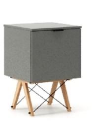 KONTENER ONE kolor GREY stelaż BUK (standard)  Praktyczny i pojemny kontener z półkami, idealny jako uzupełnienie biurka BASIC lub samodzielna szafka....