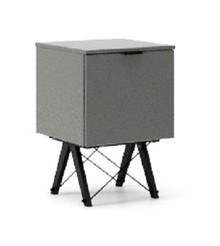 KONTENER ONE kolor GREY stelaż BUK BLACK  Praktyczny i pojemny kontener z półkami, idealny jako uzupełnienie biurka BASIC lub samodzielna szafka....