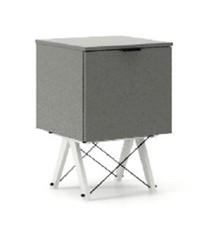 KONTENER ONE kolor GREY stelaż BUK WHITE  Praktyczny i pojemny kontener z półkami, idealny jako uzupełnienie biurka BASIC lub samodzielna szafka....