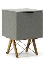 KONTENER ONE kolor GREY stelaż DĄB  Praktyczny i pojemny kontener z półkami, idealny jako uzupełnienie biurka BASIC lub samodzielna szafka. Wykonany...