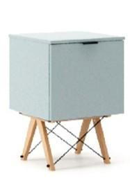 KONTENER ONE kolor ICE BLUE stelaż BUK (standard)  Praktyczny i pojemny kontener z półkami, idealny jako uzupełnienie biurka BASIC lub samodzielna...
