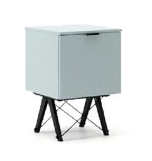 KONTENER ONE kolor ICE BLUE stelaż BUK BLACK  Praktyczny i pojemny kontener z półkami, idealny jako uzupełnienie biurka BASIC lub samodzielna szafka....