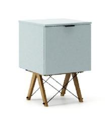 KONTENER ONE kolor ICE BLUE stelaż DĄB  Praktyczny i pojemny kontener z półkami, idealny jako uzupełnienie biurka BASIC lub samodzielna szafka....