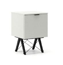 KONTENER ONE kolor LIGHT GREY stelaż BUK BLACK  Praktyczny i pojemny kontener z półkami, idealny jako uzupełnienie biurka BASIC lub samodzielna szafka....