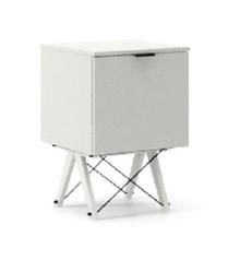 KONTENER ONE kolor LIGHT GREY stelaż BUK WHITE  Praktyczny i pojemny kontener z półkami, idealny jako uzupełnienie biurka BASIC lub samodzielna szafka....