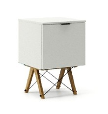 KONTENER ONE kolor LIGHT GREY stelaż DĄB  Praktyczny i pojemny kontener z półkami, idealny jako uzupełnienie biurka BASIC lub samodzielna szafka....