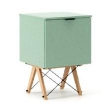 KONTENER ONE kolor MINT stelaż BUK (standard)  Praktyczny i pojemny kontener z półkami, idealny jako uzupełnienie biurka BASIC lub samodzielna szafka....
