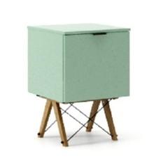 KONTENER ONE kolor MINT stelaż DĄB  Praktyczny i pojemny kontener z półkami, idealny jako uzupełnienie biurka BASIC lub samodzielna szafka. Wykonany...