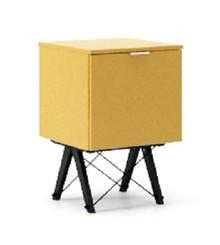 KONTENER ONE kolor LIGHT MUSTARD stelaż BUK BLACK  Praktyczny i pojemny kontener z półkami, idealny jako uzupełnienie biurka BASIC lub samodzielna...