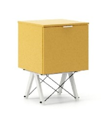 KONTENER ONE kolor LIGHT MUSTARD stelaż BUK WHITE  Praktyczny i pojemny kontener z półkami, idealny jako uzupełnienie biurka BASIC lub samodzielna...