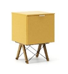 KONTENER ONE kolor LIGHT MUSTARD stelaż DĄB  Praktyczny i pojemny kontener z półkami, idealny jako uzupełnienie biurka BASIC lub samodzielna szafka....