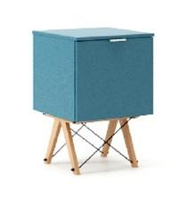 KONTENER ONE kolor OCEANIC stelaż BUK (standard)  Praktyczny i pojemny kontener z półkami, idealny jako uzupełnienie biurka BASIC lub samodzielna...