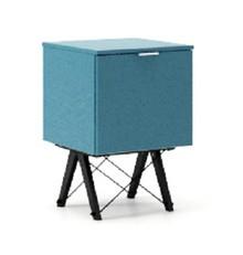 KONTENER ONE kolor OCEANIC stelaż BUK BLACK  Praktyczny i pojemny kontener z półkami, idealny jako uzupełnienie biurka BASIC lub samodzielna szafka....