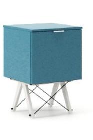 KONTENER ONE kolor OCEANIC stelaż BUK WHITE  Praktyczny i pojemny kontener z półkami, idealny jako uzupełnienie biurka BASIC lub samodzielna szafka....