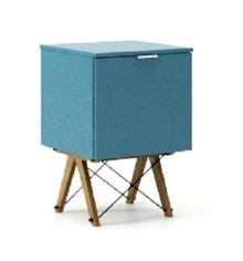 KONTENER ONE kolor OCEANIC stelaż DĄB  Praktyczny i pojemny kontener z półkami, idealny jako uzupełnienie biurka BASIC lub samodzielna szafka. Wykonany...