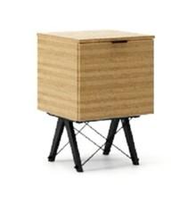 KONTENER ONE kolor RAW OAK stelaż BUK BLACK  Praktyczny i pojemny kontener z półkami, idealny jako uzupełnienie biurka BASIC lub samodzielna szafka....