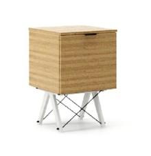 KONTENER ONE kolor RAW OAK stelaż BUK WHITE  Praktyczny i pojemny kontener z półkami, idealny jako uzupełnienie biurka BASIC lub samodzielna szafka....