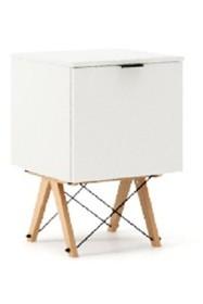 KONTENER ONE kolor WHITE stelaż BUK (standard)  Praktyczny i pojemny kontener z półkami, idealny jako uzupełnienie biurka BASIC lub samodzielna szafka....