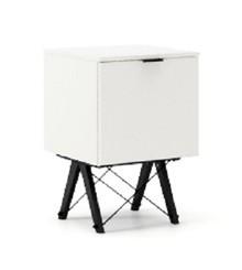 KONTENER ONE kolor WHITE stelaż BUK BLACK  Praktyczny i pojemny kontener z półkami, idealny jako uzupełnienie biurka BASIC lub samodzielna szafka....