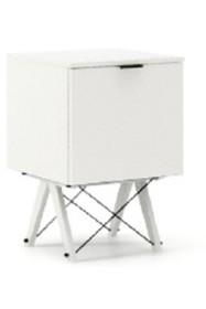 KONTENER ONE kolor WHITE stelaż BUK WHITE  Praktyczny i pojemny kontener z półkami, idealny jako uzupełnienie biurka BASIC lub samodzielna szafka....