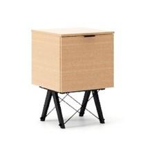 KONTENER ONE LUXURY WOOD blat BUK stelaż BUK BLACK  Praktyczny i pojemny kontener z półkami, idealny jako uzupełnienie biurka BASIC lub samodzielna...