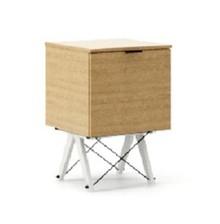 KONTENER ONE LUXURY WOOD blat DĄB stelaż BUK WHITE  Praktyczny i pojemny kontener z półkami, idealny jako uzupełnienie biurka BASIC lub samodzielna...