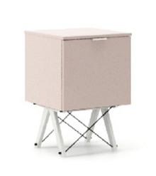 KONTENER KIDS ONE kolor DUSTY PINK stelaż BUK WHITE  Praktyczny i pojemny kontener z półkami, idealny jako uzupełnienie biurka BASIC lub samodzielna...